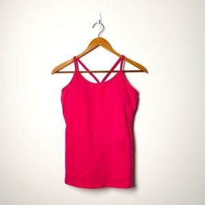 Lululemon Pink Bend and Flow Spaghetti Strap Tank